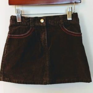 Girl's Gymboree Brown Corduroy Skirt Size 5